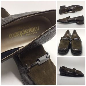 Vintage Olive Leather Loafer 8N